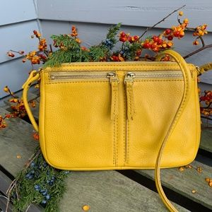 FOSSIL ERIN Leather Crossbody in Saffron